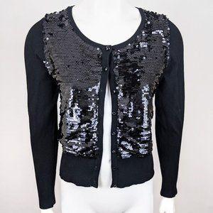 Joseph A Sequin Cardigan Sweater Macys NWT S